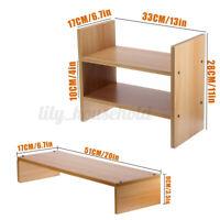 Mini Standregal Lagerregal Bücherregal Schreibtisch Organizer Holzregal DIY Neu