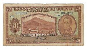 Bolivia - Twenty (20) Bolivianos, 1928