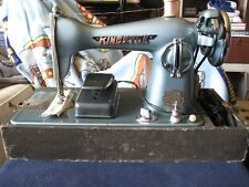 Vintage RARE.... KINGSTON Deluxe Precision Sewing Machine Model 050 with CASE