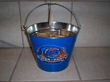MILLER LITE ICE BUCKET WITH GLASSES