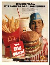 1971 vintage estaurant AD MCDONALD'S The BIG MEAL  , burgers fries coke 032419