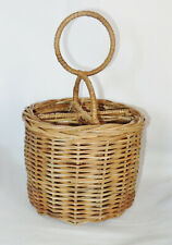 Pottery Barn Willow Wicker Flatware Utensil Caddy Natural Color New