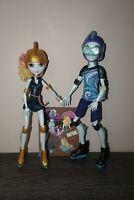 "Monster High dolls bundle Lagoona Blue and Gillington ""Gil"" Webber Wheel Love"