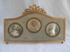 ANTIQUE FRENCH GILT BRONZE PHOTO FRAME,EMPIRE STYLE,LATE 19th CENTURY.