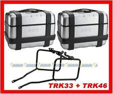 KIT VALIGIE GIVI TRK33 + TRK46 + TELAIO BMW F 650 GS 2000-2007 PL188
