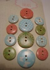 EASTER - ME TO YOU TATTY TEDDY COLLECTION - WOODEN BUTTONS - Pastel Colours (15)