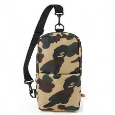 Mens BAPE A BATHING APE Green Camo Sling Shoulder Bag Handbag Chest Pack Purse
