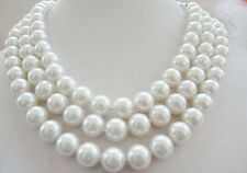 """10mm AAA white South Sea shell peal necklace 50"""" LL001"""