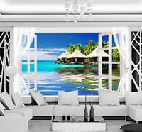 3D Bule Ocean Arbor 21 Paper Wall Print Wall Decal Wall Deco Indoor Murals