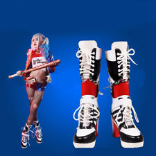 Batman Suicide Squad Cosplay Harley Quinn Women Shoes Boots Halloween Costume