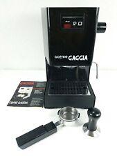 Gaggia Coffee Espresso Machine Black with Tamper