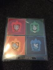 Colourful Brand New sealed set of 4 Harry Potter House Coasters