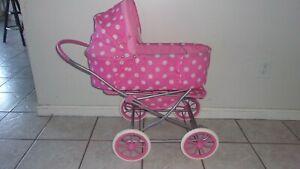 Badger Basket 3-in-1 Doll Pram Carrier and Stroller fits American Girl Dolls