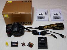 Nikon D800 36.3 MP Digital SLR Camera - Black (Body Only) 1017 Shutter Count
