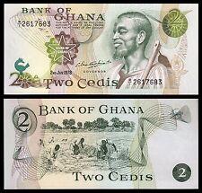 Ghana 2 Cedis  2-1-1978  Pick 14c (2)   SC = UNC