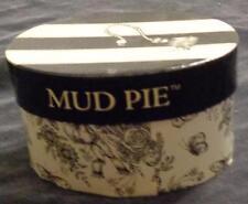"Cute Collectible Laminated Cardboard ""Mud Pie™"" Mini Box - VGC - CUTE OVAL BOX"