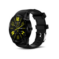 Indigi Android X98 SmartWatch & Phone (GPS, 44mm) - Black w/ Silicone Band