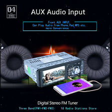 Autoradio Auto Radio Bluetooth FM AUX 1 DIN HD TFT LCD Display 4.1 Zoll MP3 MP5