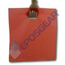 100 Extra Grande Rojo Punch Out Mango Regalo de Moda de Fiesta Plástico carrier bags