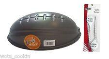 Football Cake Mould / Tin / Pan 29cm x 18cm Non-Stick FREE Cake Testers