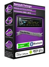 Renault Twingo DAB radio, Pioneer car stereo CD USB AUX player, Bluetooth kit
