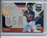 2020 Panini Elite Extra Edition Jo Adell Team USA Material Triple Relic Jersey