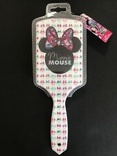 Disney Minnie Mouse Paddle Hair Brush Plastic Bristle Bed Hairbrush NWT