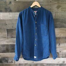 Levis Shirt Mens Medium Button Down Denim Vintage Blue Tab