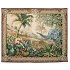 Tapestries LTD Wall Hanging Elephant Leopard Heirloom Loom Woven