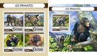 Primates Gorillas Monkeys Animals Fauna Guinea MNH stamp set