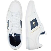New Lacoste Men Shoes Chaymon 0120 1 Leather Casual Sneakers Shoes White