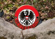 VERY NICE VINTAGE ENAMEL AUTOMOBILE CAR BADGE # ÖSTERREICH / AUSTRIA FLAG bmw