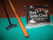 "Pool Bridge Stick Granny Stick & 48"" Pool Cue Stick & Billiard Table Dust Cover"