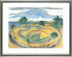 Günter Grass (1927-2915), An der Küste (Seenlandschaft), 2006