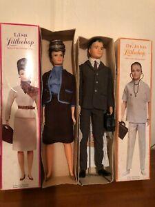 "VINTAGE Remco DR JOHN LISA LITTLECHAP 1963 15"" Doll original BOXES"