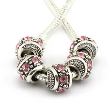 hot 5pcs retro Tibetan silver big hole beads fit Charm European Bracelet