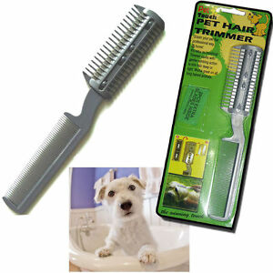 2XCAT 2DOG PET PUPPY LONG HAIR GROOMING COMB BRUSH TRIMMER RAZOR CUTTER BLADES