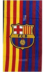 "FC Barcelona Soccer Team Two Tone Beach Towel 30""x 60"""