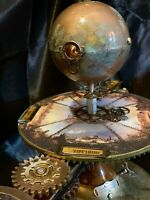 STEAMPUNK JULES VERNE EARTH SUN MOON ORRERY SOLAR SYSTEM