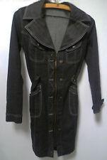 Robe saharienne avec fermeture éclair Plein Sud en jeans gris. Taille 36