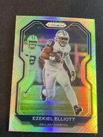 2020 Ezekiel Elliott Silver Refractor Prizm Dallas Cowboys #151