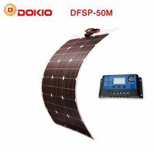 Solar Battery Flexible Panel 50W 12V 24v Controller +10A Sun System Kits Camping