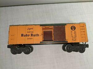 LIONEL POST WAR X2454 BABY RUTH BOXCAR PRR LOGO 1946-1947 VG CONDITION