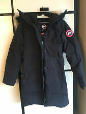 NWT CANADA GOOSE LADIES SHELBURNE PARKA (COLOR: NAVY SIZE:X-SMALL)