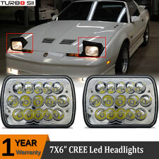 1982-1990 Pontiac Firebird 7x6 H6052/H6054 Sealed Beam H4 LED Headlights Chrome