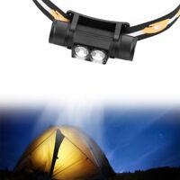 Waterproof USB XM L2/T6 LED Headlamp Flashlight BikeLight 18650 Rechargeable ES