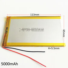 3.7V 5000mAh LiPo Polymer Battery Rechargeable For Power Bank Tablet PC 5565113