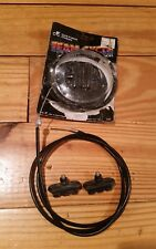 NOS 80's Team Cycle BMX Brake Cable Black Housing Pads Old School Freestyle Race