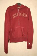 ABERCROMBIE & FITCH Hoodie Zip Jacket For Girls Burgandy