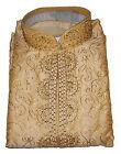 Gold  Silk Indian clothing Men Kurta Sherwani  with Matching shawl 3 pieces